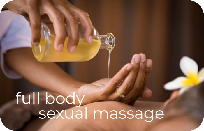 pouring oil for massage