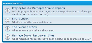 message boards © The Marriage Bed, Inc.
