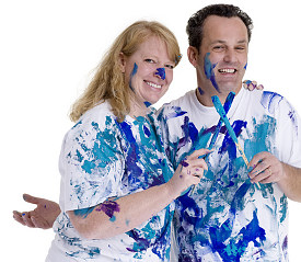 Painted couple © Thomas Perkins | Dreamstime.com