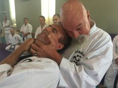 Sensei Scott Hogarth Demonstrates on Sensei Gary Raposo
