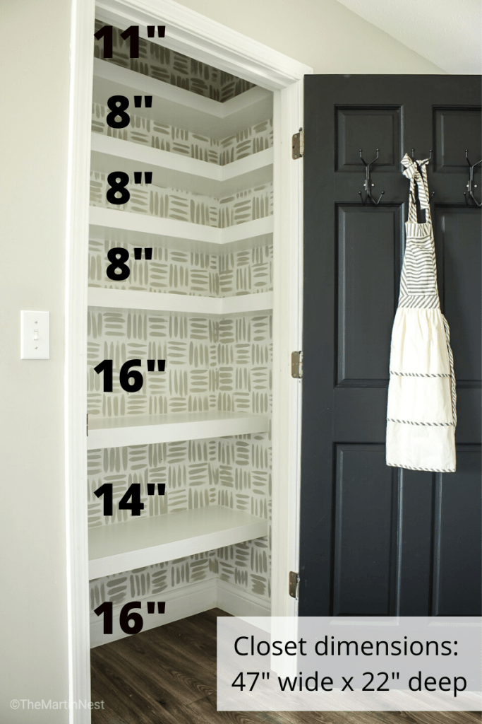DIY Floating Corner Shelves in Pantry Dimensions