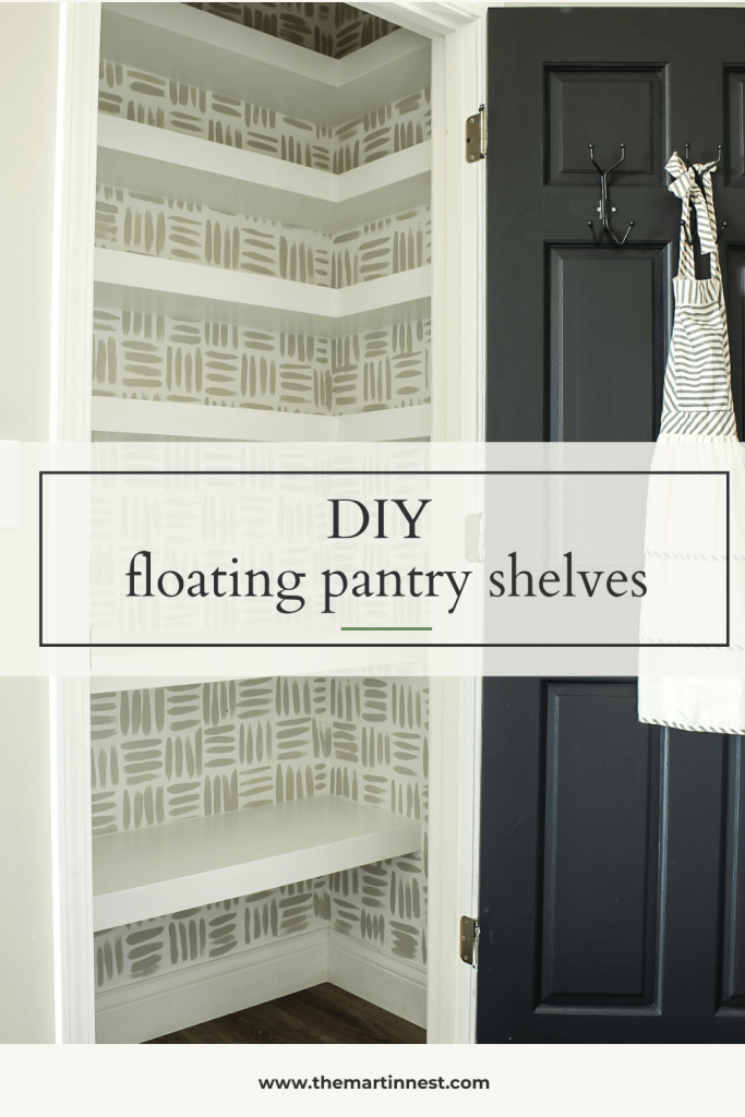 DIY Floating Pantry Shelves