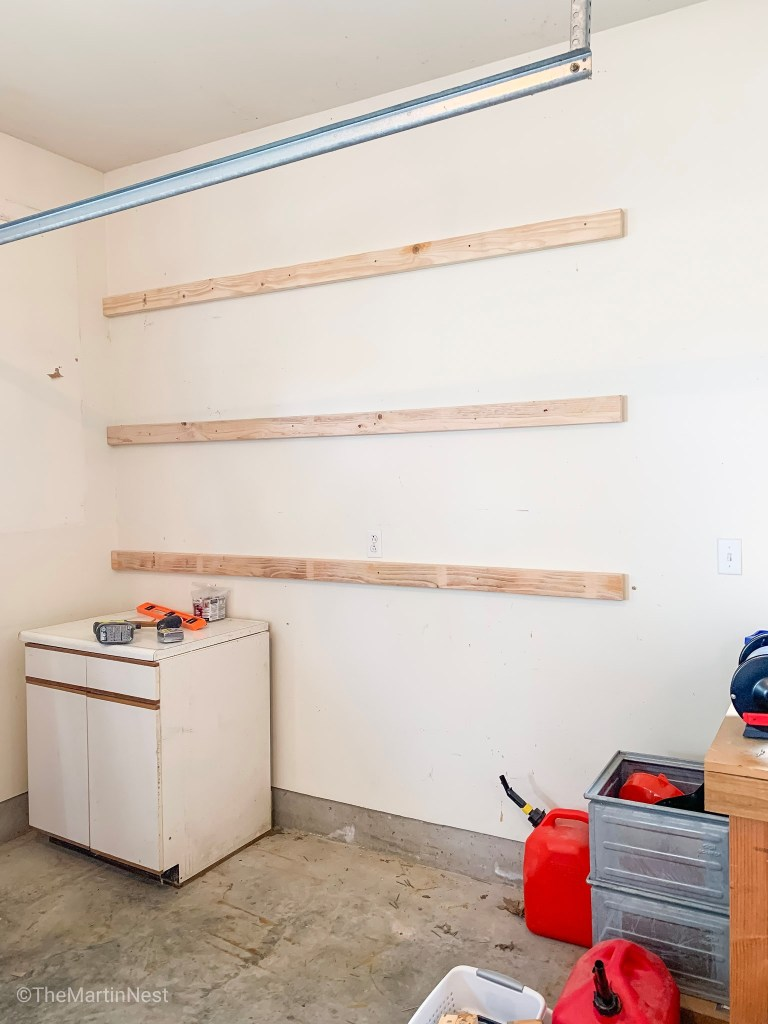 Easy DIY Garage Shelving