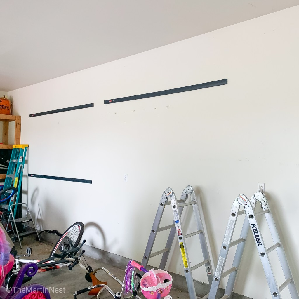 Rubbermaid Fastrack Rails on Garage Wall