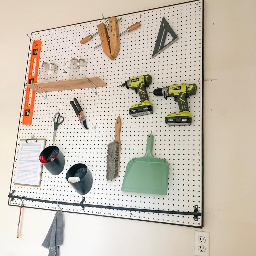 DIY Pegboard for Garage Organization