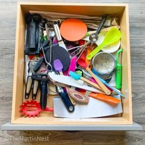 Unorganized Kitchen Drawer