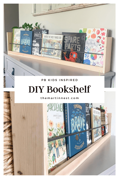 A DIY Dupe of the Pottery Barn Kids bookshelf. Create the look for less.