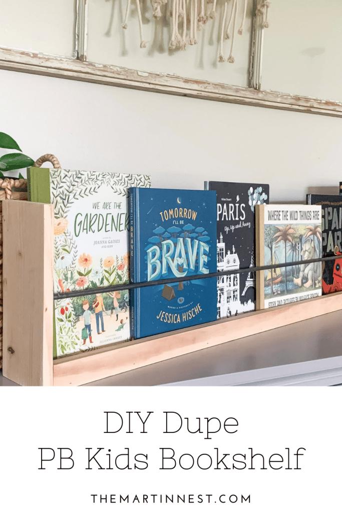Pottery Barn Kids Inspired DIY Dupe Bookshelf