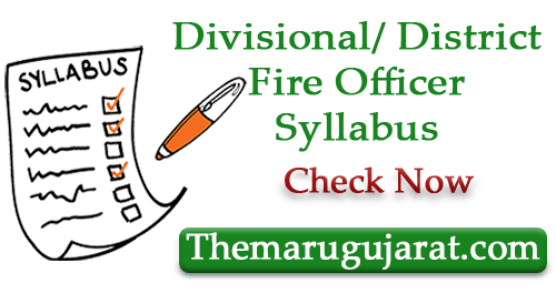 Divisional District Fire Officer Syllabus 2021