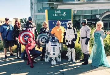 Cosplayers at Childrens Hospital