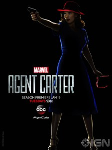 Agent Carter in noir attire for Southern California