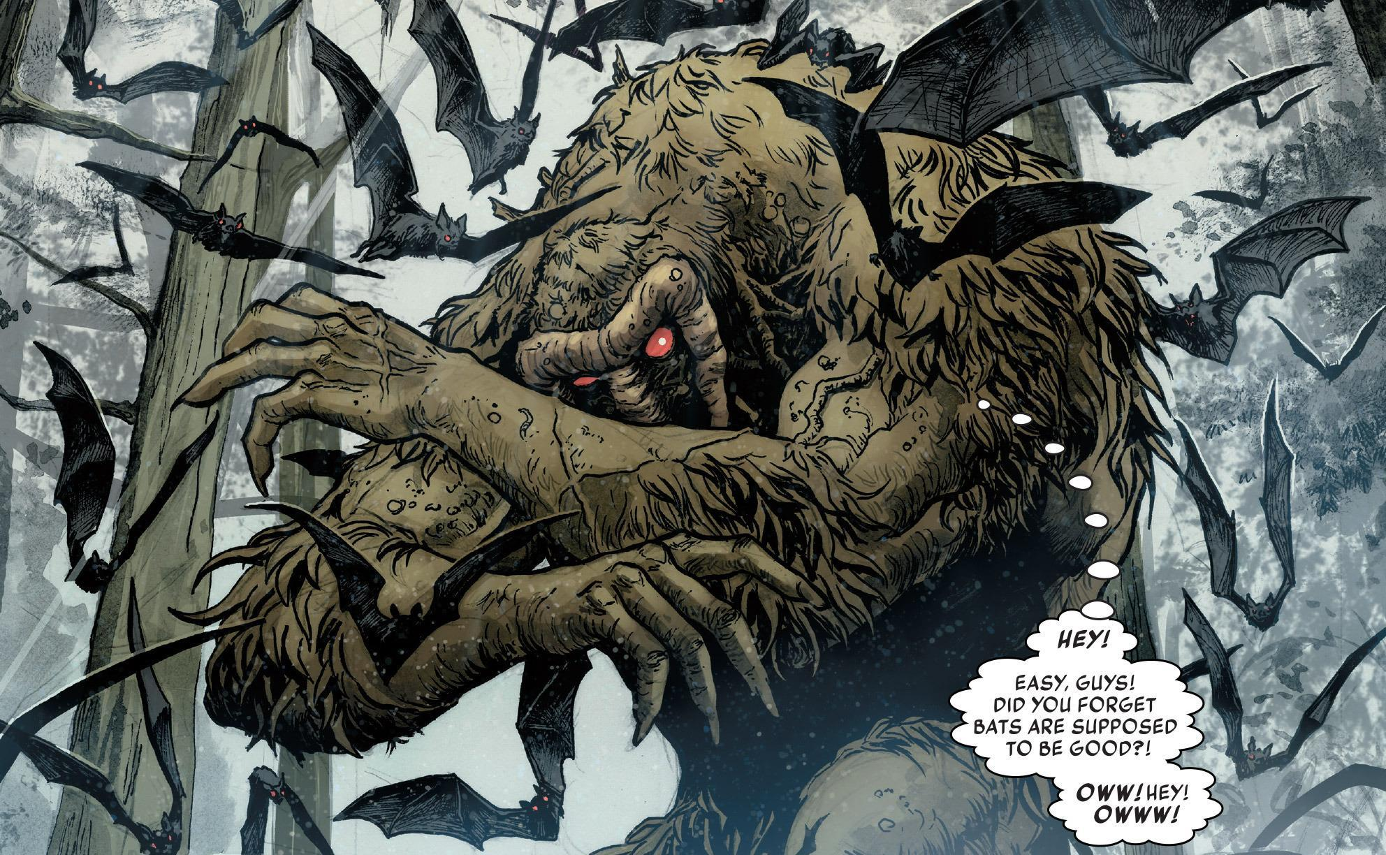 5. Strange-Thing. An extremely powerful combination of Strange and Man-Thing, it possesses the best of both worlds. This version is among the most powerful magicians in the whole Marvel Universe. He has abilities to travel to different dimensions and to manipulate realities.
