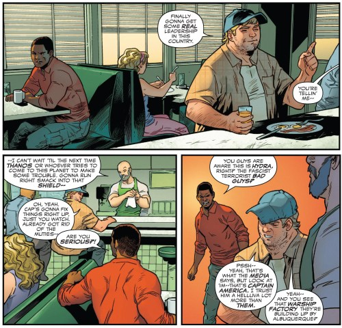 Captain America Sam Wilson #22 Real Leadership