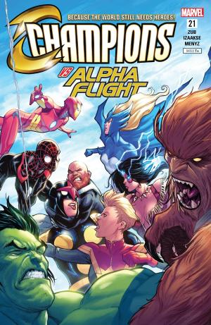 Champions #21 Review Cover Champons vs. Alpha Flight