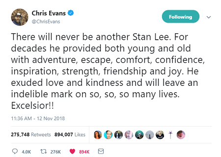 Stan Lee Chris Evans