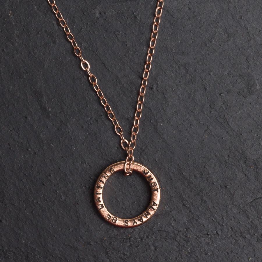 Personalised Brass Hoop Necklace