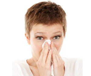 Sneezing, runny nose, itchy or watery eyes, allergies