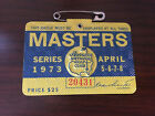 1973 MASTERS BADGE TICKET AUGUSTA NATIONAL GOLF PGA TOMMY AARON WINS RARE WOW