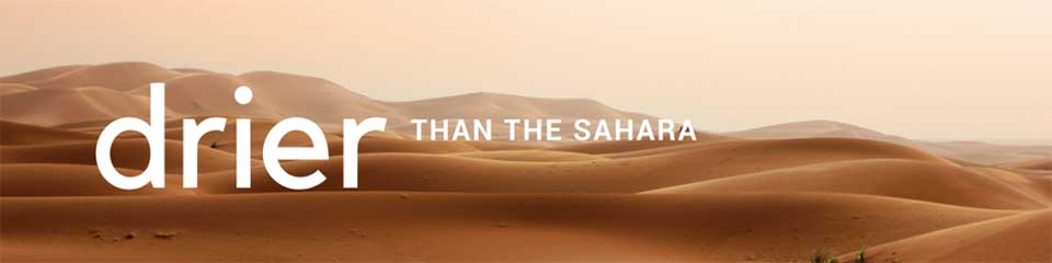Winter is Near: Drier than the Sahara