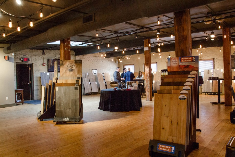 At the open house we also showed our current prefinished lines, like Outback Flooring and Vintage Loft from Real Wood Floors.