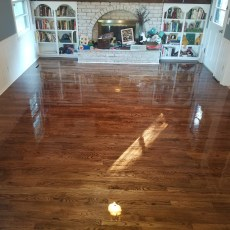Beautiful Espresso Duraseal Stain & Masterline Satin Polyurathane completed this project. Thanks Masterscraft! <br /> <small>Photographer: Corbie Leslie </small><small>Location: North Kansas City </small><small>Business: Osage Hardwood Flooring </small><br />