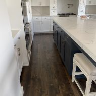 Homeowner remodeled entire main floor removed all existing Oak and carpet and replaced with Blue Mesa