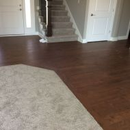 Installed through four kitchen, dinette, and Entry. This is a spec home that sold recently. The buyer liked it so much, they are asking to add this flooring to the great room and office as part of the sale.
