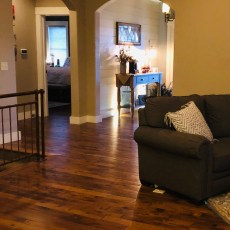 Durango Carmel floor installed on the entire main floor. Beautiful floor that matches several interior styles. <br /> <small>Photographer: Steve Milloy </small><small>    Location: Main floor </small><small>    Business: NHS Designer/Builders </small><br />