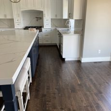 Homeowner did a complete remodel of main level removing all existing Oak and carpet replacing with Blue River Mesa <br /> <small>Photographer: Sarah Dinsmore </small><small>    Location: Council bluffs, Iowa </small><small>    Business: Dinsmore Flooring Inc </small><br />