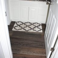 We chose to install a beautiful porcelain tile in conjunction with the gorgeous Gallery Hermitage on our own personal home. With the beauty of these two together we decided on a patterned entryway that just takes your breath away.