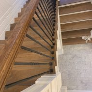 """Vintage Loft """"Millhouse"""" installed along with FloorNose on the stairs."""