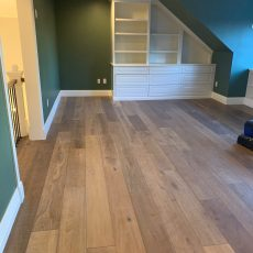 "Vintage Loft ""Millhouse"" installed along with FloorNose on the stairs. <br /> <small>Photographer: Dean Nazarenus </small><small>    Location: Denver, CO </small><small>    Business: Rocky Mountain Wood Systems </small><br />"