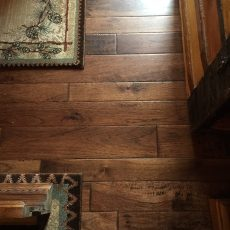 The Chalet Handscraped Whistler Hickory turned out even better than the sample in the store! <br /> <small>Photographer: Samantha </small><small>    Location: Branson </small><small>    Business: Stoneridge Flooring & Design </small><br />