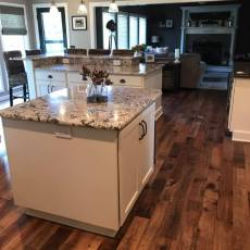 Rear Entry- Dining- Kitchen - Living Room- Remodel <br /> <small>Photographer: Ashley Sauls </small><small>Location: Omaha, Nebraska </small><small>Business: Timberland Hardwood Floors Inc. </small><br />