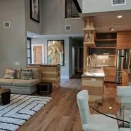 Palladio - Tabacco Barn flooring installed into a custom home in Travis Heights neighborhood in Austin Texas