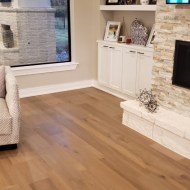 This transitional Hill Country home needed a wood floor with character. The Longhouse Plank collection, with its added texture and color and size variation, was the perfect choice. This flooring is carried throughout the house from entry to kitchen, all bedrooms to the media room.