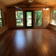 Buffalo River Hardwoods American Red Cedar installed by Jack Clayborn in NW Arkansas. <br /> <small>Business: Buffalo River Hardwoods </small><br />