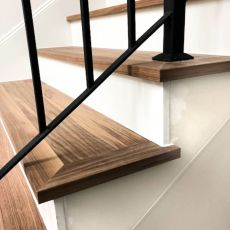 "Side view of FloorNose treads with Brick & Board ""Foyer"" flooring in Austin home. <br /> <small>Photographer: Scott Anderson </small><small>    Location: Austin, TX </small><small>    Business: Bay Hill Design </small><br />"