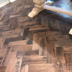 """Storehouse """"Barrel"""" White Oak floor from Real Wood Floors installed in a herringbone pattern in Altus, OK.  <br /> <small>Photographer: Joe Conway </small><small>Location: Lawton, OK </small><small>Business: Conway Custom Marble </small><br />"""