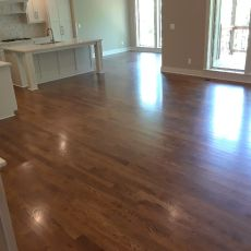 "6"" Walnut with Emulsion installed by Mike Rangel in Kansas City.  <br />"