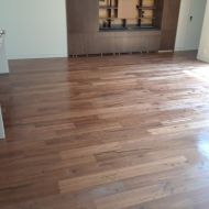 """6"""" Walnut with Emulsion installed by Mike Rangel in Kansas City."""