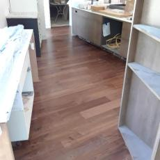 """6"""" Walnut with Emulsion installed by Mike Rangel in Kansas City.  <br /> <small>Photographer: Mike Rangel </small><small>Location: Kansas City </small><small>Business: Midwest Hardwood </small><br />"""
