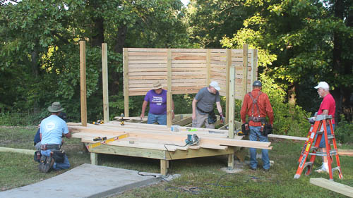 Building a new deck for the Children's Advocacy Center