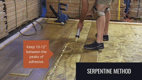 glue and nail wide plank flooring