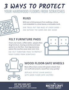 3 Ways to Protect Your Hardwood Floor From Scratches