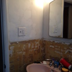 Before - a bathroom remodel