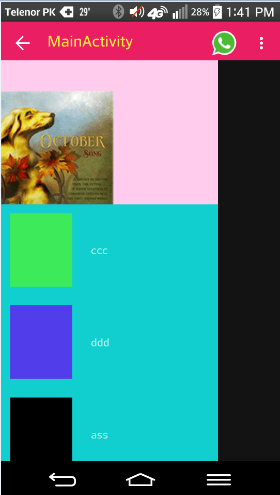 Alt Tag recyclerview in material design output image