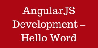 AngularJS Development - Hello Word