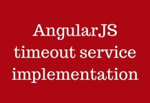 AngularJS timeout service implementation