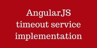 AngularJS timeout service implementation